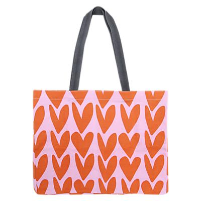 Caroline Gardner Hearts Canvas Tote Bag, Multi