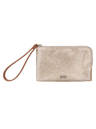 Buy Caroline Gardner Essential Wristlet Purse, Gold Online at johnlewis.com