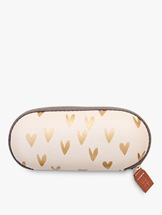 Caroline Gardner Hearts Glasses Case, Gold