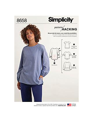 ffa34d5ed3294 Simplicity Pattern Hacking Women s Top Sewing Pattern