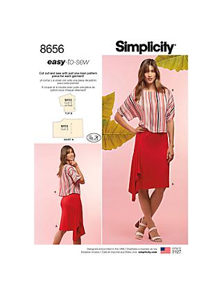Simplicity Women's Blouse and Skirt Sewing Pattern, 8656, XXS-XXL