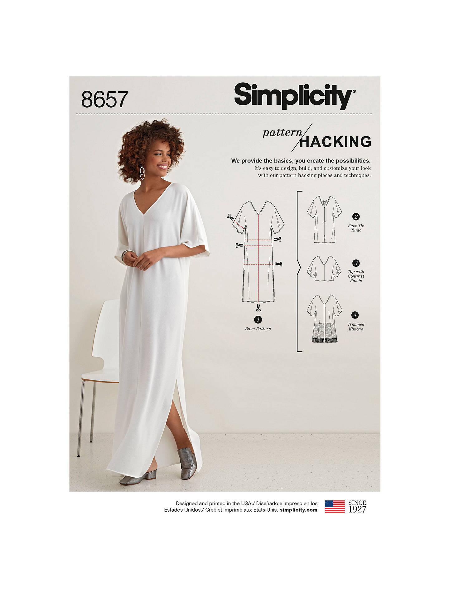 Simplicity Women\'s Caftan, Kimono and Top Sewing Pattern, 8657, XXS ...