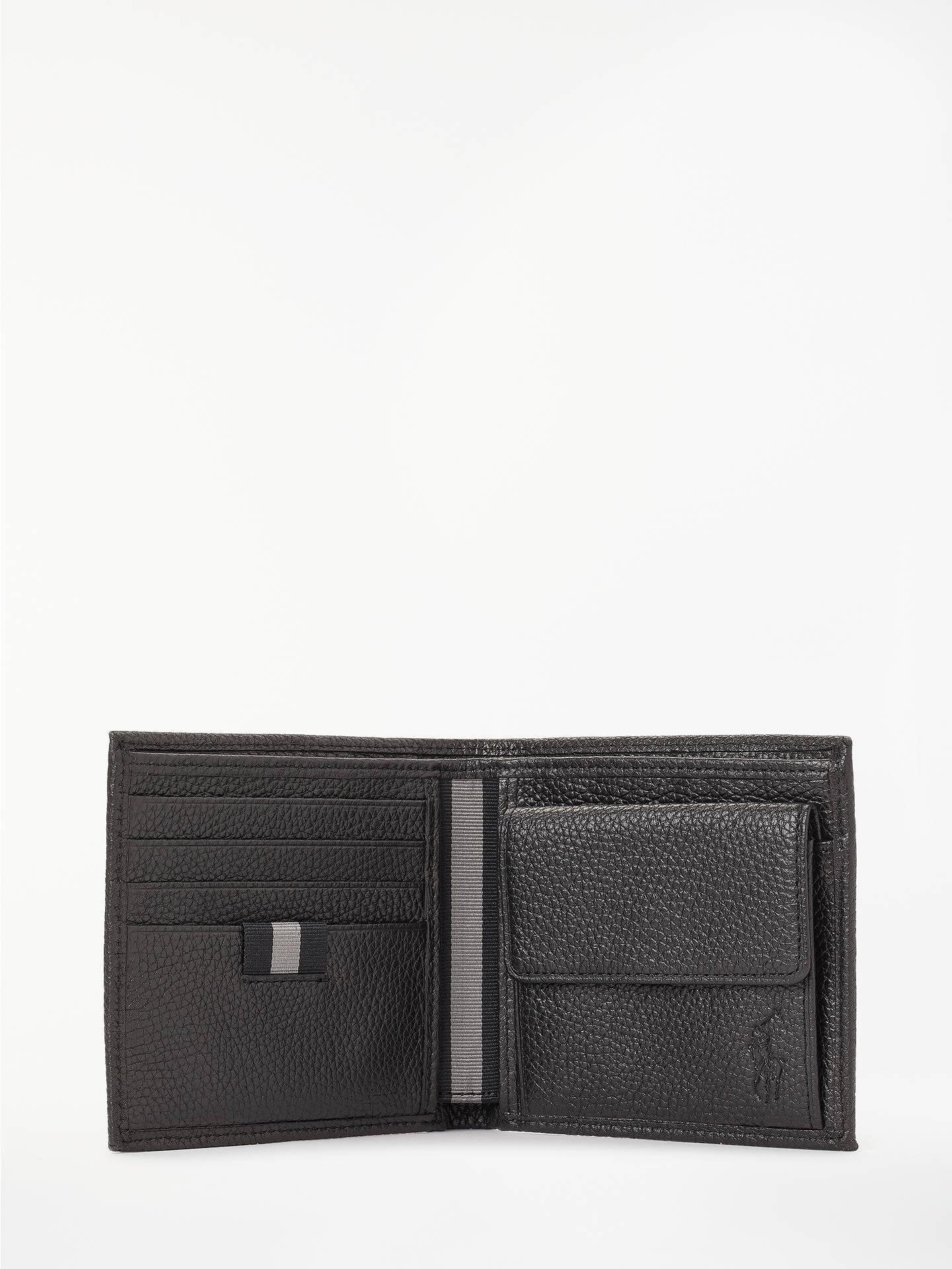 dc28cef16b1d ... Buy Polo Ralph Lauren Pebble Leather Coin Wallet, Black Online at  johnlewis.com ...