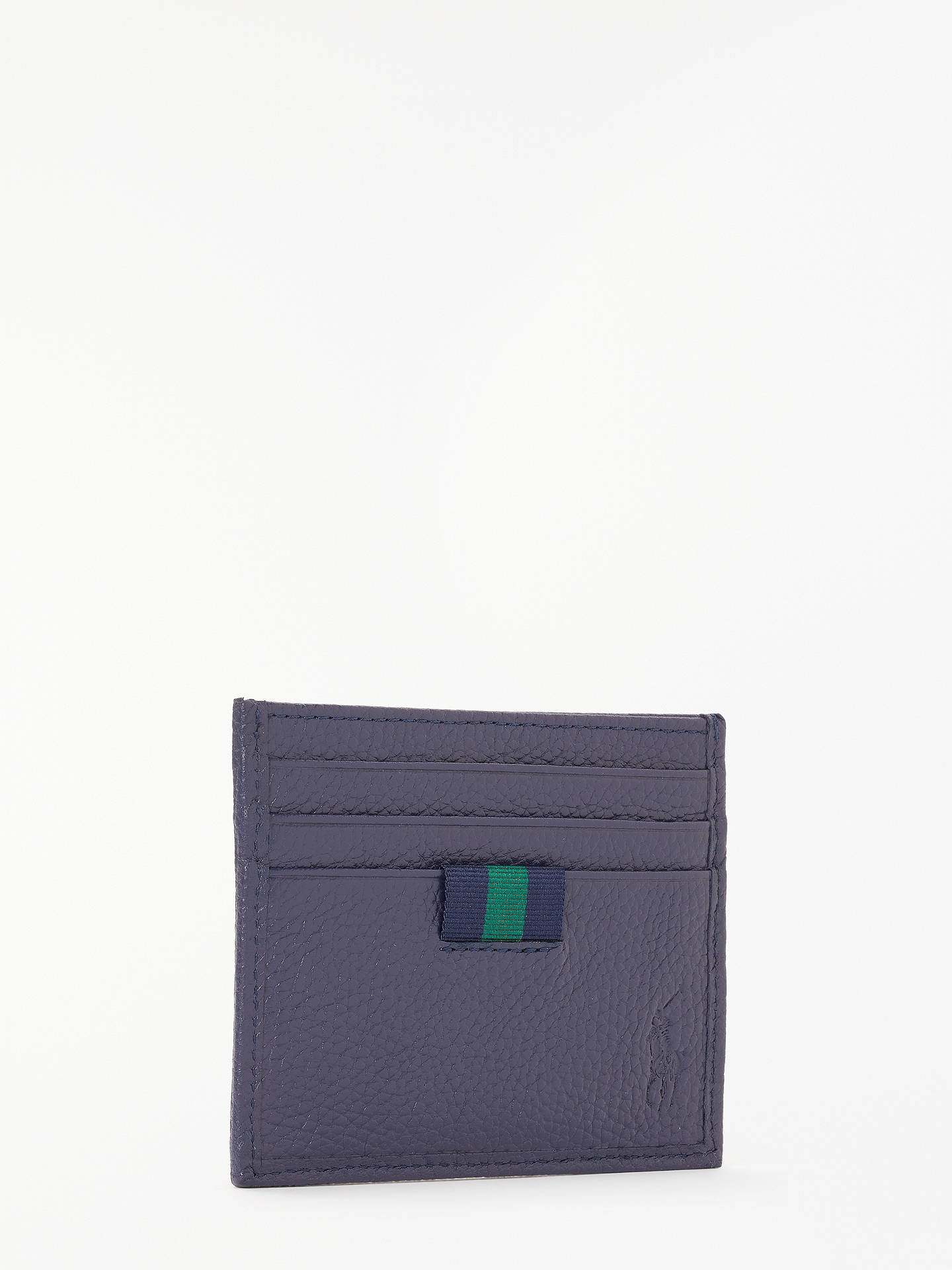 Buy Polo Ralph Lauren Pebble Leather Card Holder, Navy Online at johnlewis.com