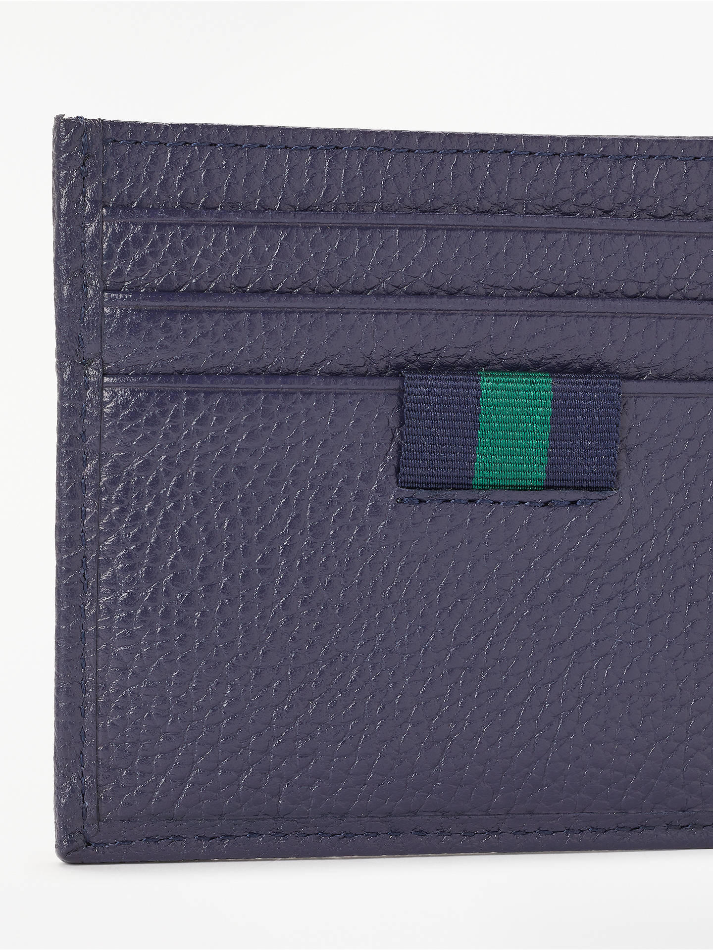 BuyPolo Ralph Lauren Pebble Leather Card Holder, Navy Online at johnlewis.com