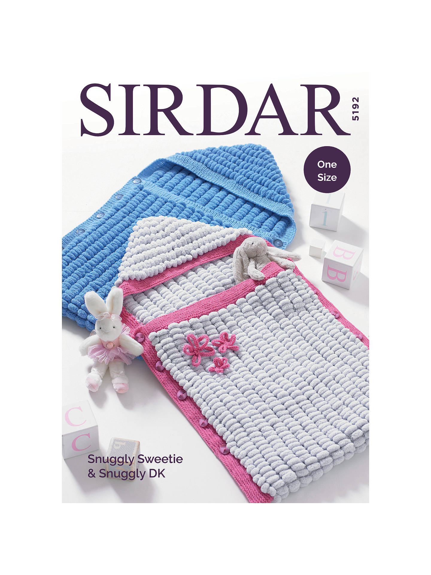 Sirdar Baby Snuggly Sweetie And Dk Blankets Knitting Pattern Book