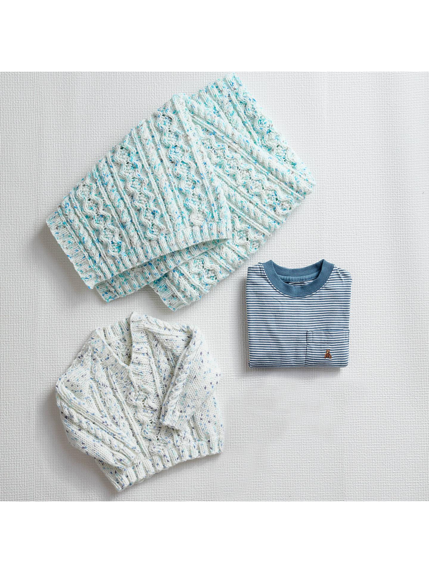 Sirdar Rainbow Drops Aran Baby Blanket and Jumper Knitting Pattern ...