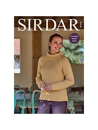 Sirdar No.1 DK Jumpers Knitting Pattern, 8150