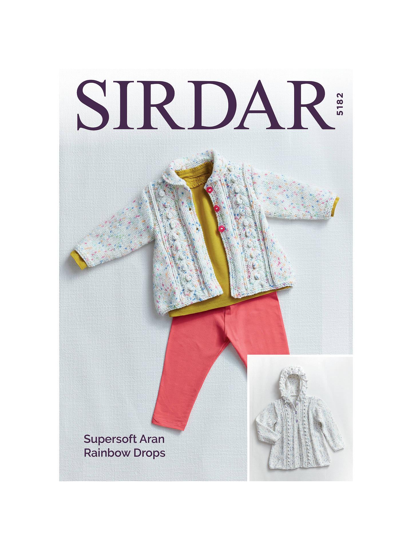 dbdf54bba5db Sirdar Rainbow Drops Aran Baby Cardigans Knitting Pattern