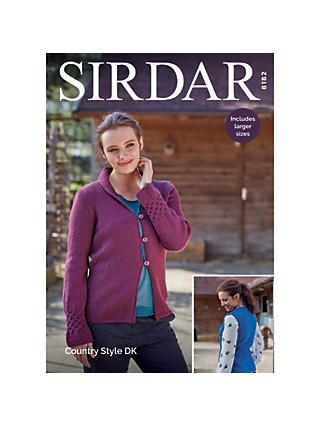Sirdar Country Style DK Women's Cardigan Knitting Pattern, 8182