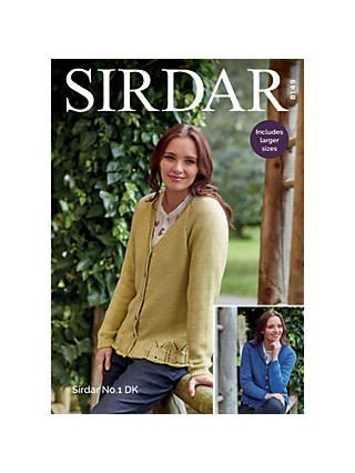 67e65b7872fe9 Sirdar No.1 DK Cardigans Knitting Pattern