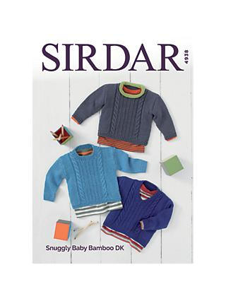 Sirdar Snuggly Baby Bamboo DK Jumpers Knitting Pattern, 4938
