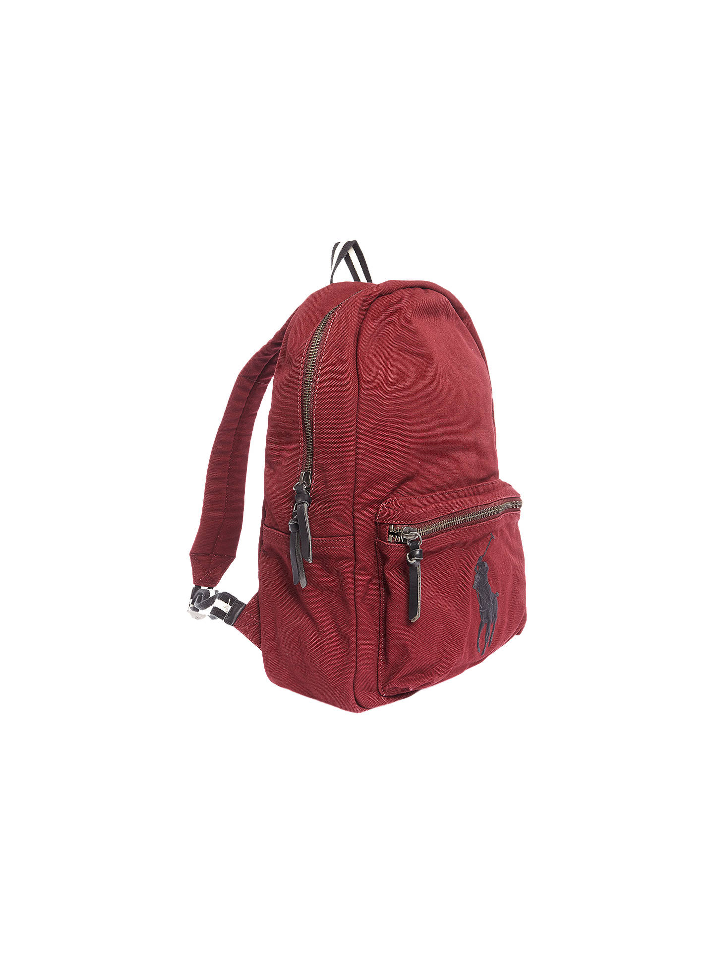 Buy Polo Ralph Lauren Canvas Backpack, Wine Online at johnlewis.com