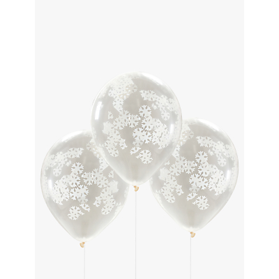 Image of Ginger Ray Balloon Confetti Snowflake, White