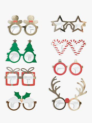 Ginger Ray Novelty Fun Paper Glasses, Pack of 8