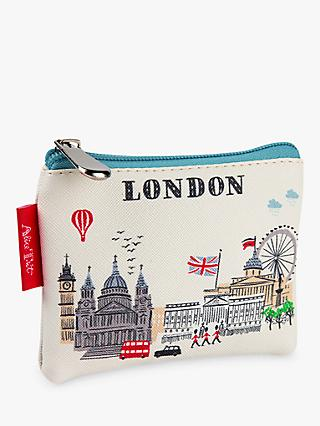 Alice Tait London Coin Purse, White/Multi