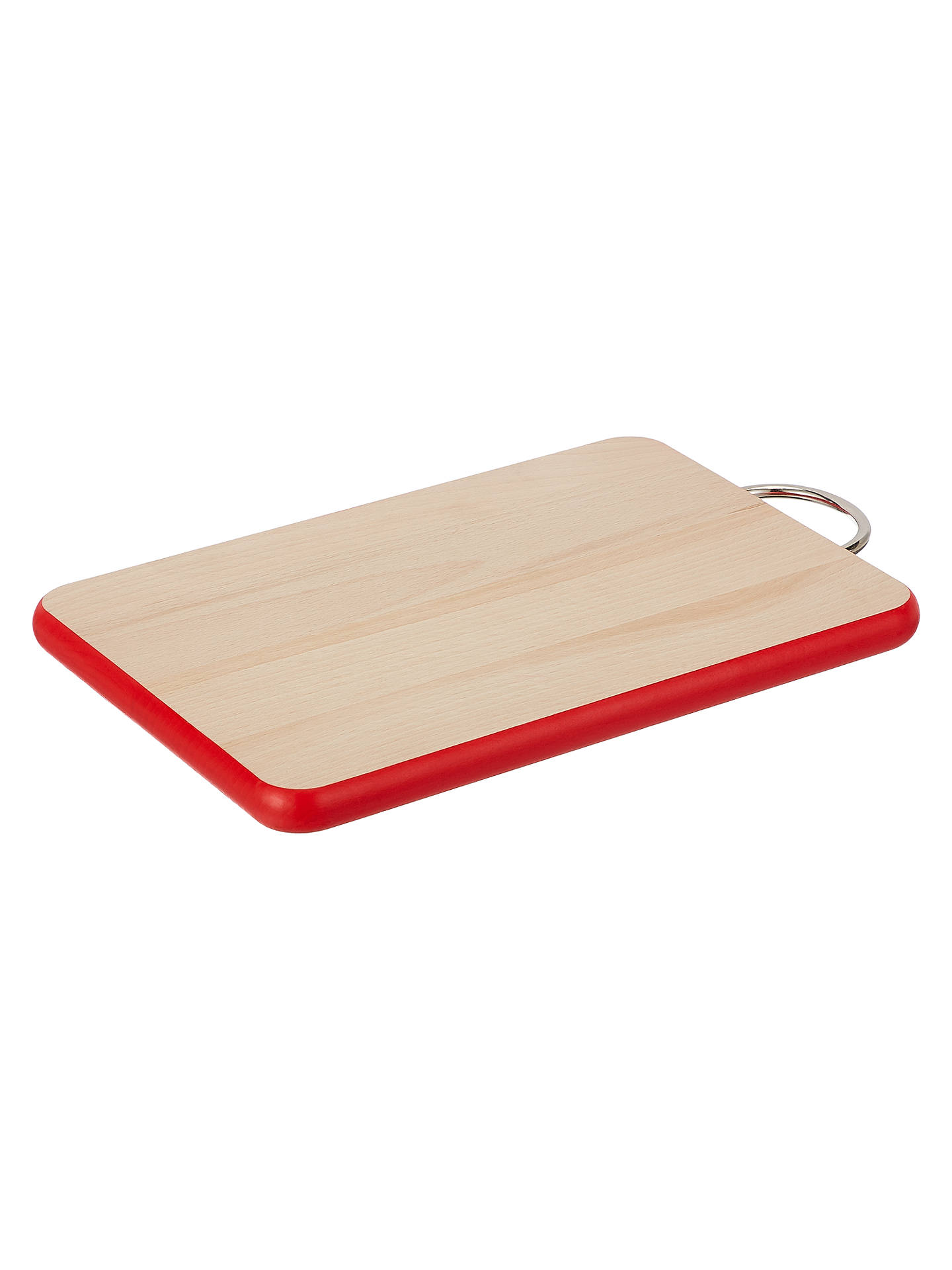 BuyJohn Lewis & Partners Novelty Small Red Trim Chopping Board, L23cm, FSC-Certified (Beech Wood) Online at johnlewis.com