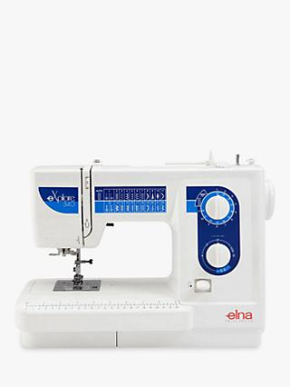 Elna E340EX Sewing Machine, White