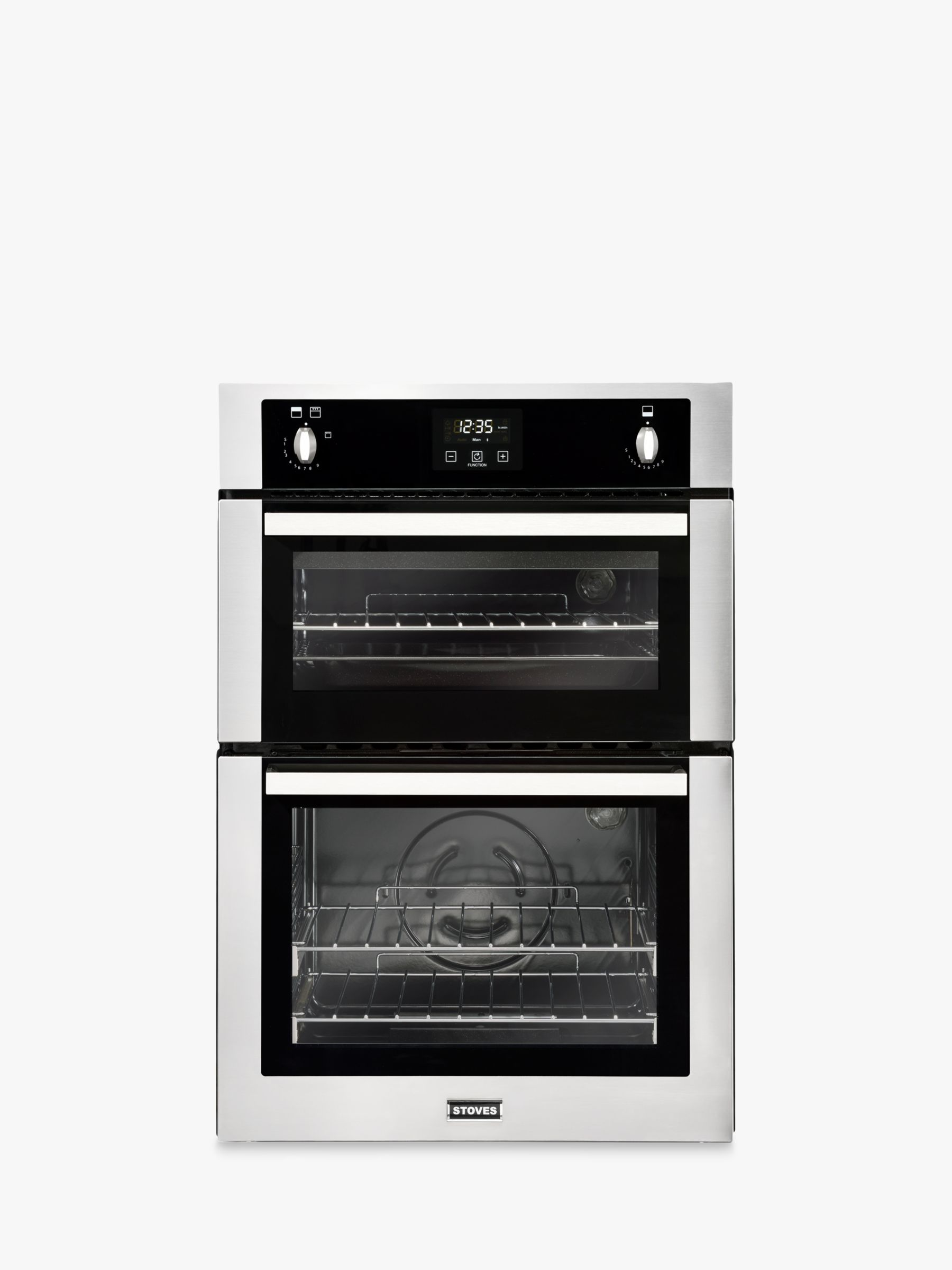 Stoves Stoves STBI900G Built-In Double Gas Oven, Stainless Steel