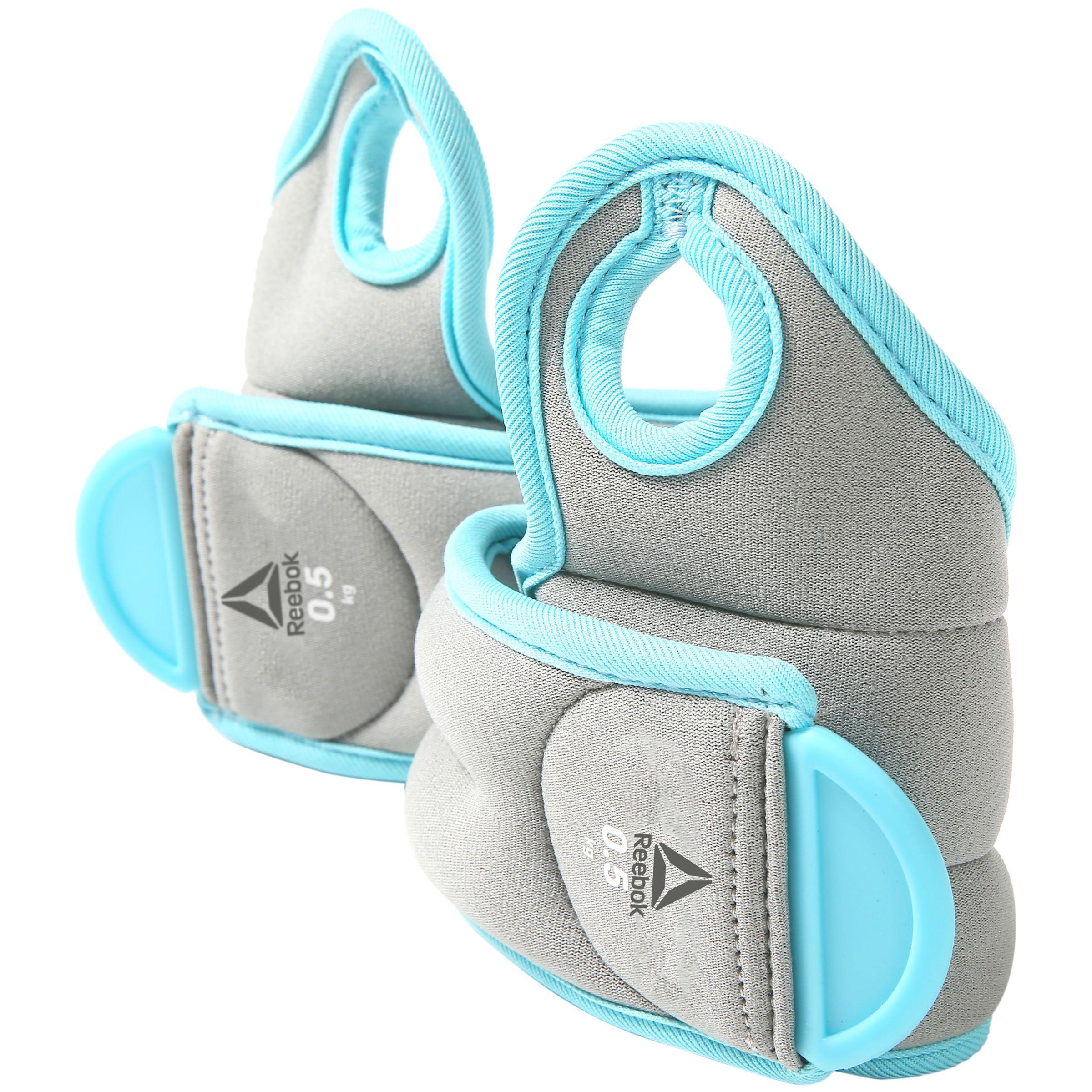 Reebok Reebok Training 2x0.5kg Wrist Weights, Grey/Blue