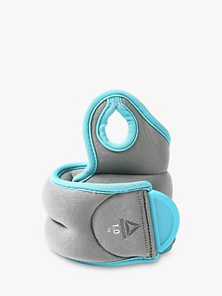 Reebok Training 2x1kg Wrist Weights, Grey/Blue