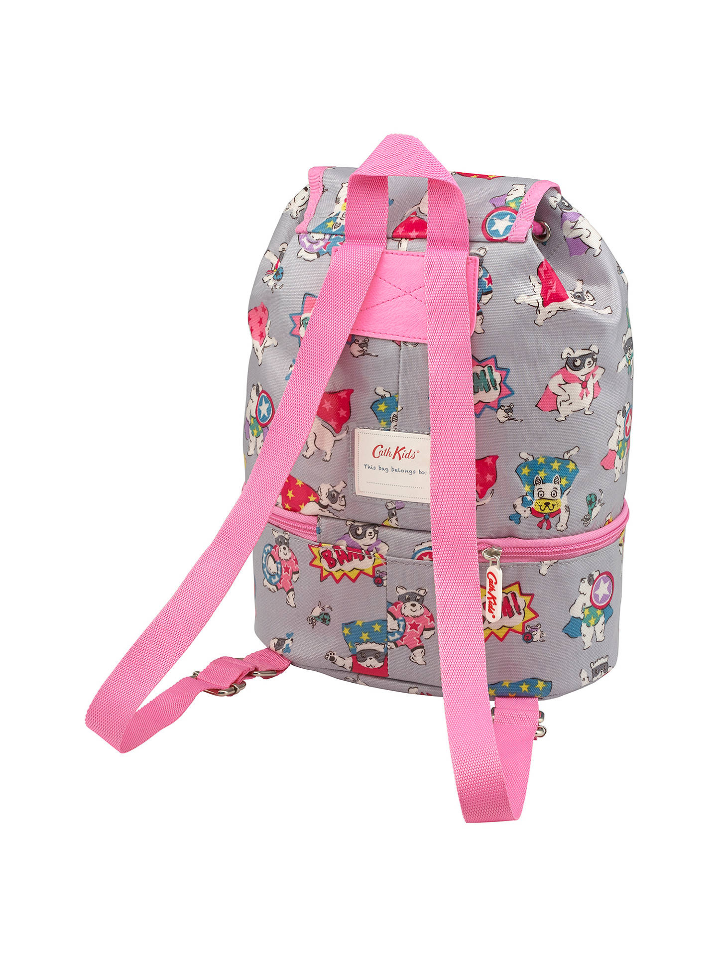 BuyCath Kids Children's Super Dogs Print Compartment Backpack, Grey Online at johnlewis.com