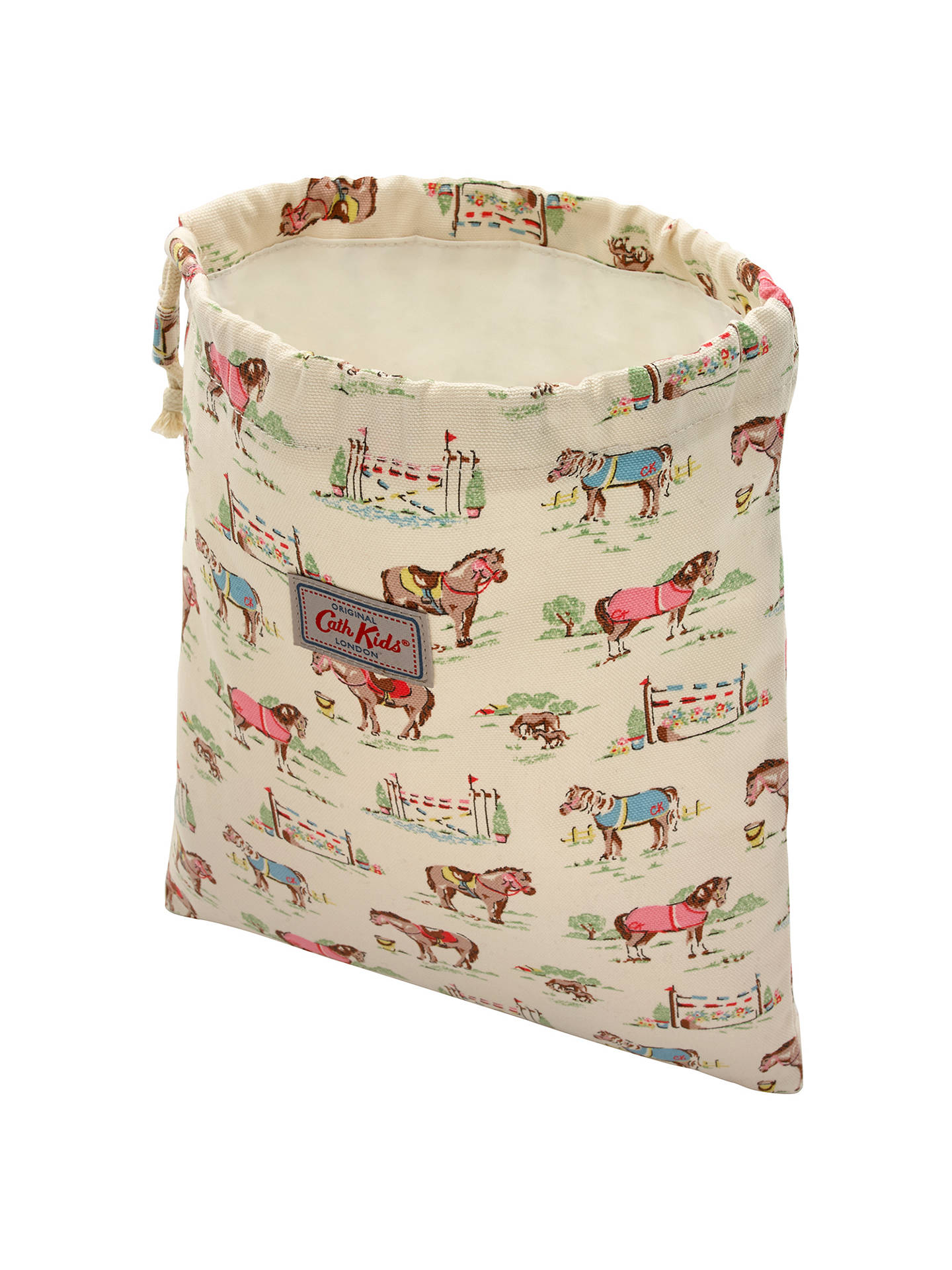 Buy Cath Kids Children's Pony Print Drawstring Wash Bag, Cream Online at johnlewis.com