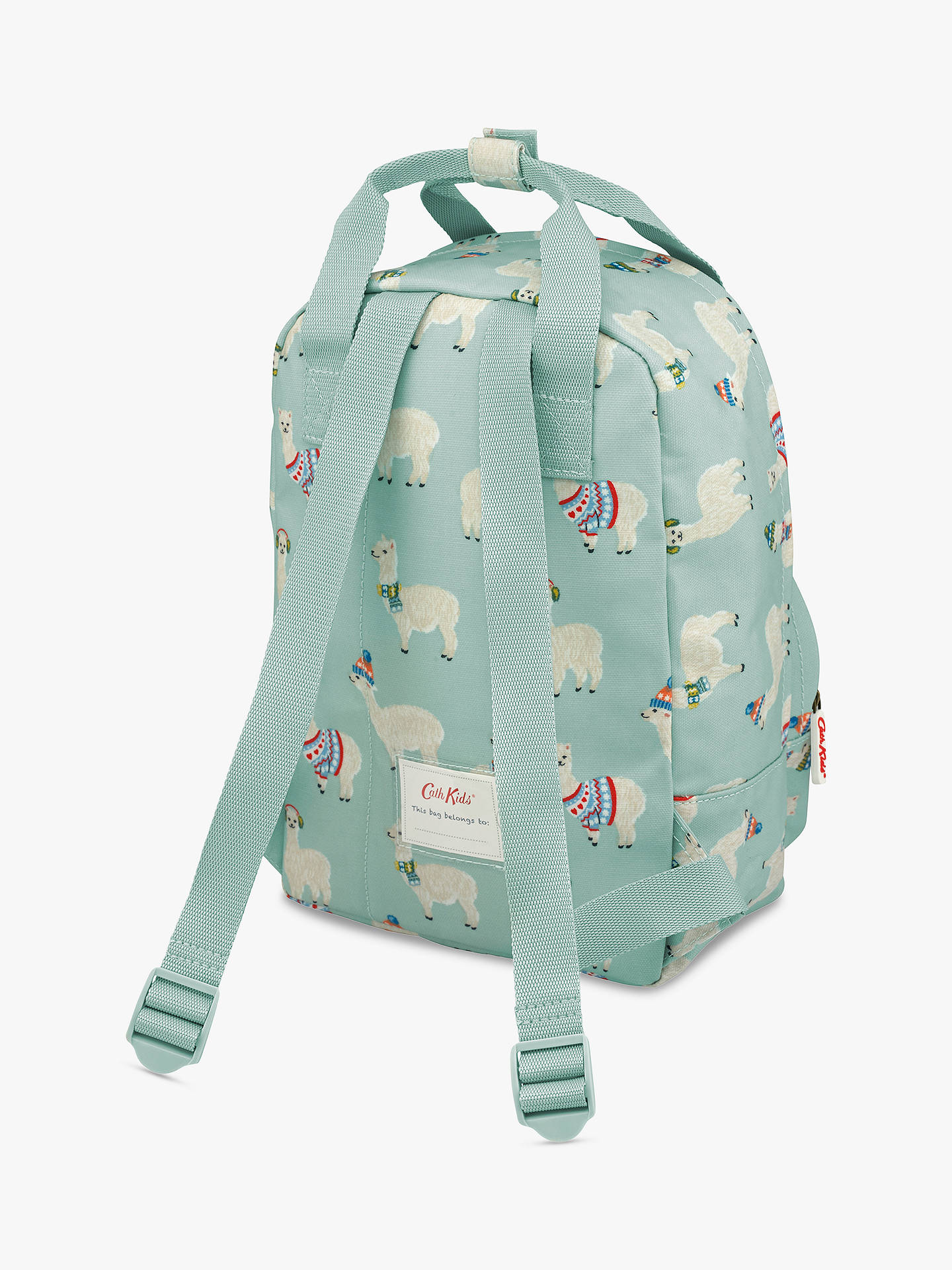 Buy Cath Kids Children's Alpaca Print Medium Backpack, Turquoise Online at johnlewis.com