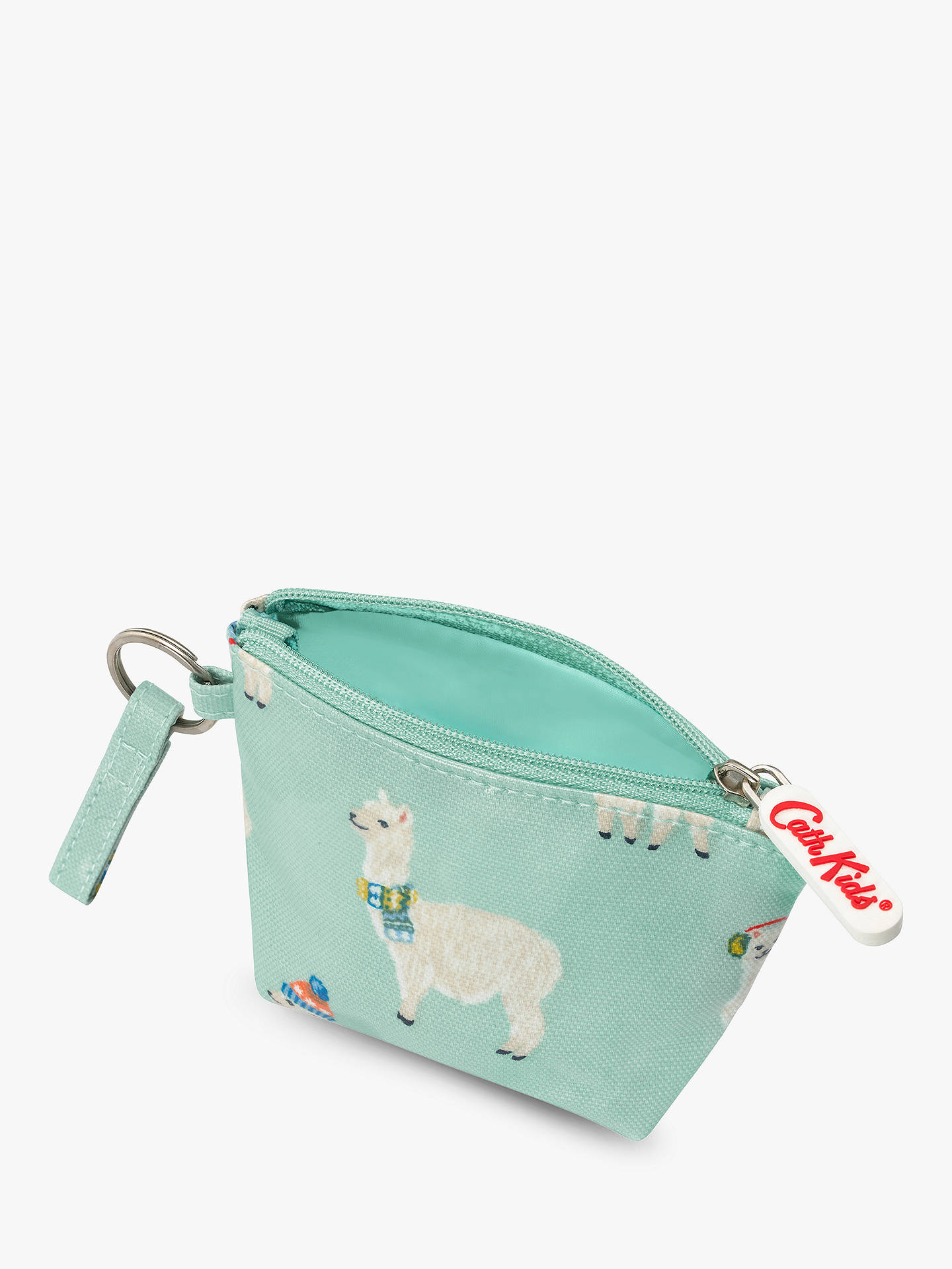 BuyCath Kids Mini Alpaca Print Pocket Money Purse, Turquoise Online at johnlewis.com