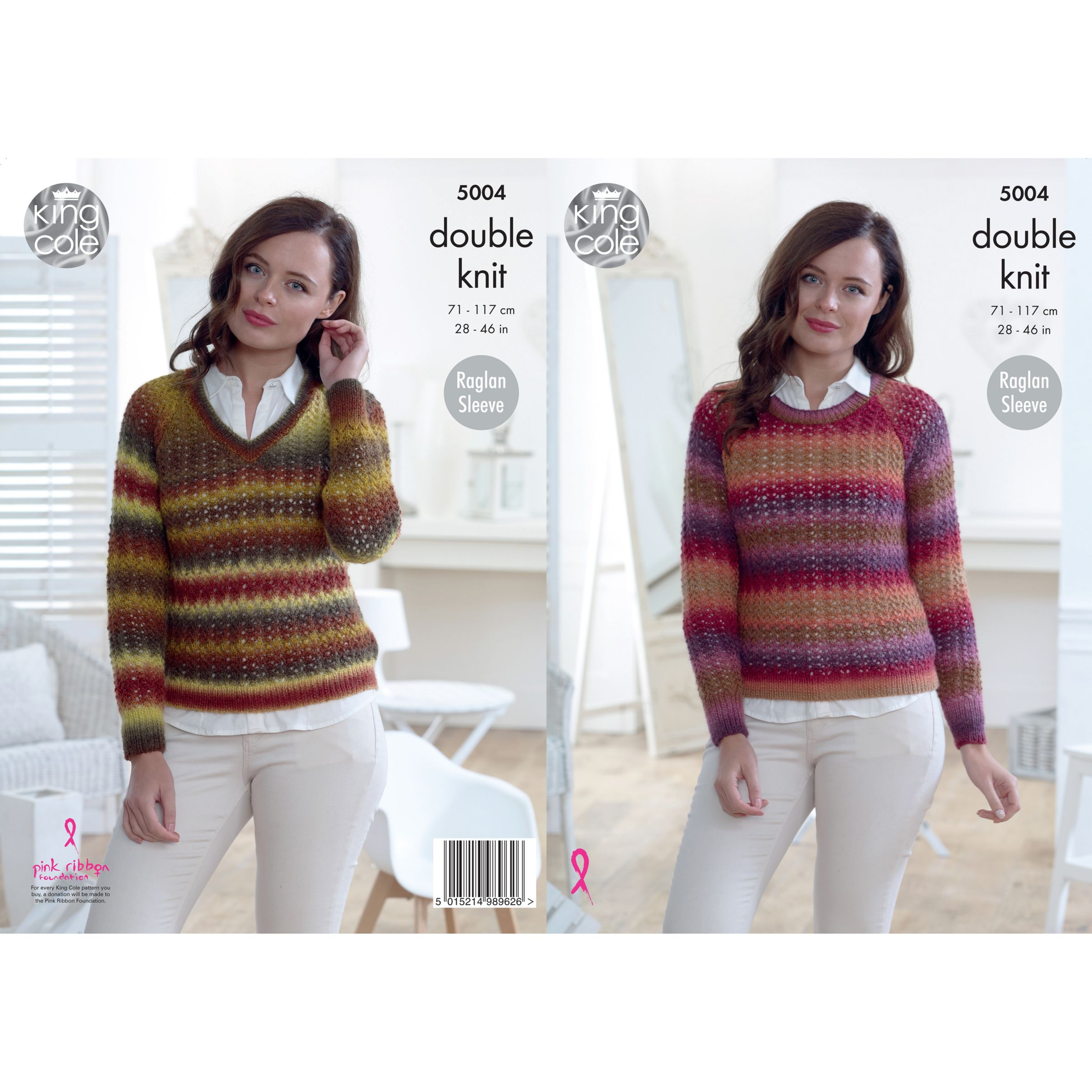 a10b8b2a2 King Cole Riot DK Ladies Jumper and Cardigan Knitting Pattern