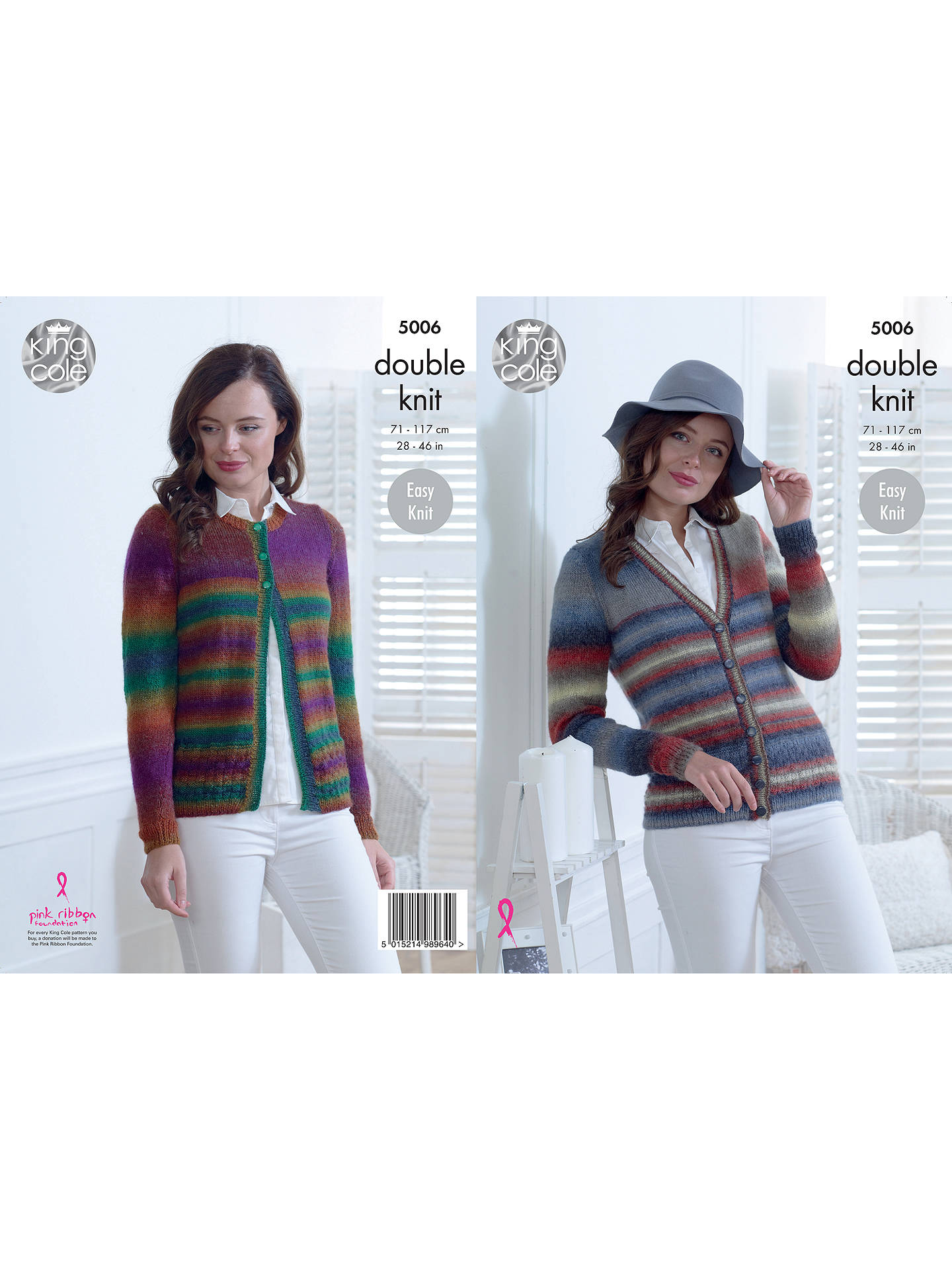 28413eb04 Buy King Cole Riot DK Ladies Cardigan and Sweater Knitting Pattern