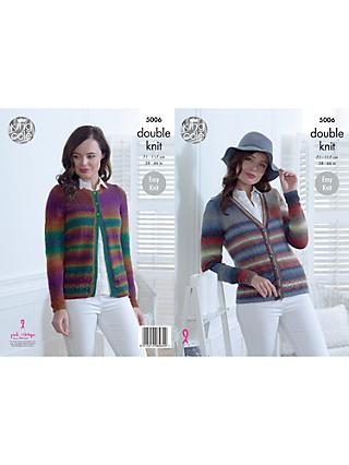 King Cole Riot DK Ladies Cardigan and Sweater Knitting Pattern, 5006