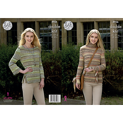 Image of King Cole Drifter Chunky Women's Jumpers Knitting Pattern, 4956