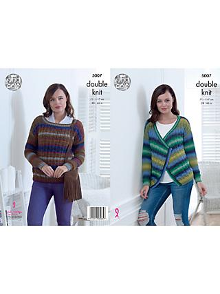 King Cole Riot DK Women's Jumper and Cardigan Knitting Pattern, 5007