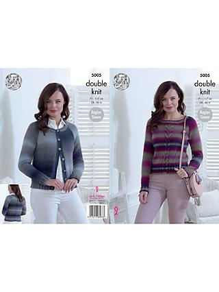 King Cole Riot DK Ladies Cardigans Knitting Pattern, 5005