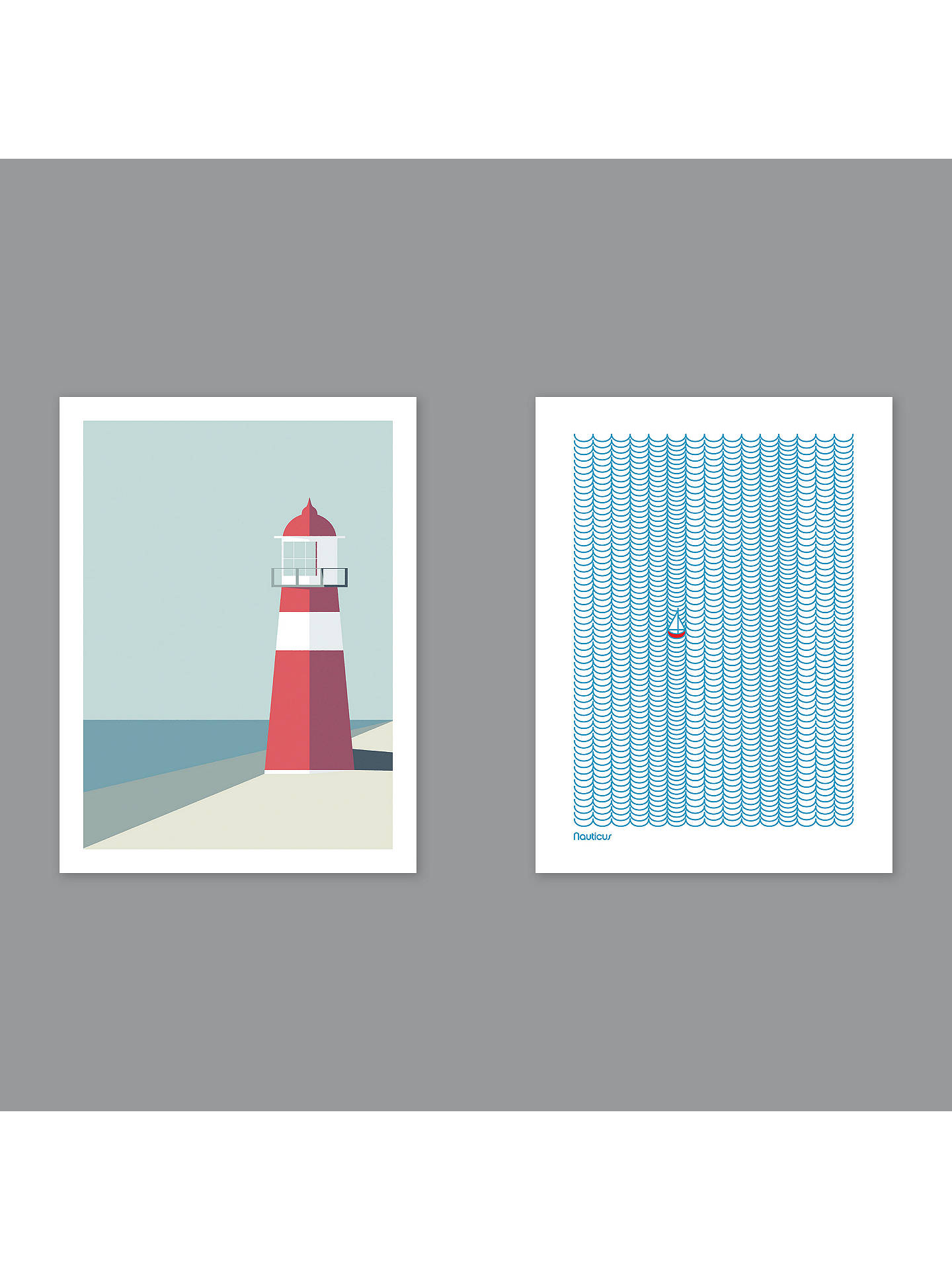 BuySimon C Page - Nauticus / Lighthouse Unframed Prints, Set of 2, 40 x 30cm Online at johnlewis.com