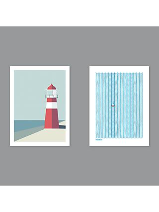 Simon C Page - Nauticus / Lighthouse Unframed Prints, Set of 2, 40 x 30cm