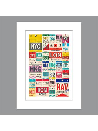 Nick Cranston - Destinations Unframed Print with Mount, 40 x 30cm