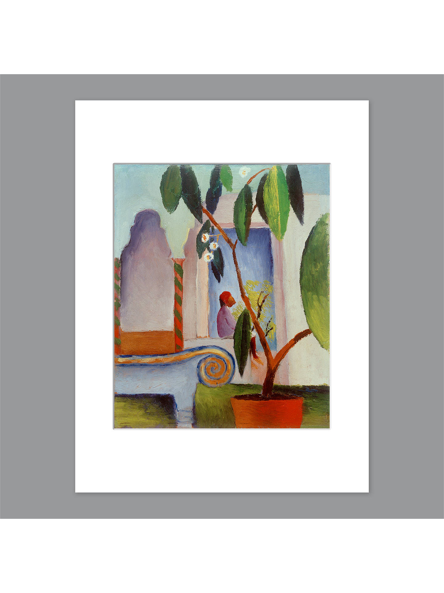 BuyAugust Macke - Arabic Cafe Unframed Print with Mount, 40 x 30cm Online at johnlewis.com