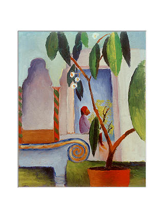 Buy August Macke - Arabic Cafe Unframed Print with Mount, 40 x 30cm Online at johnlewis.com