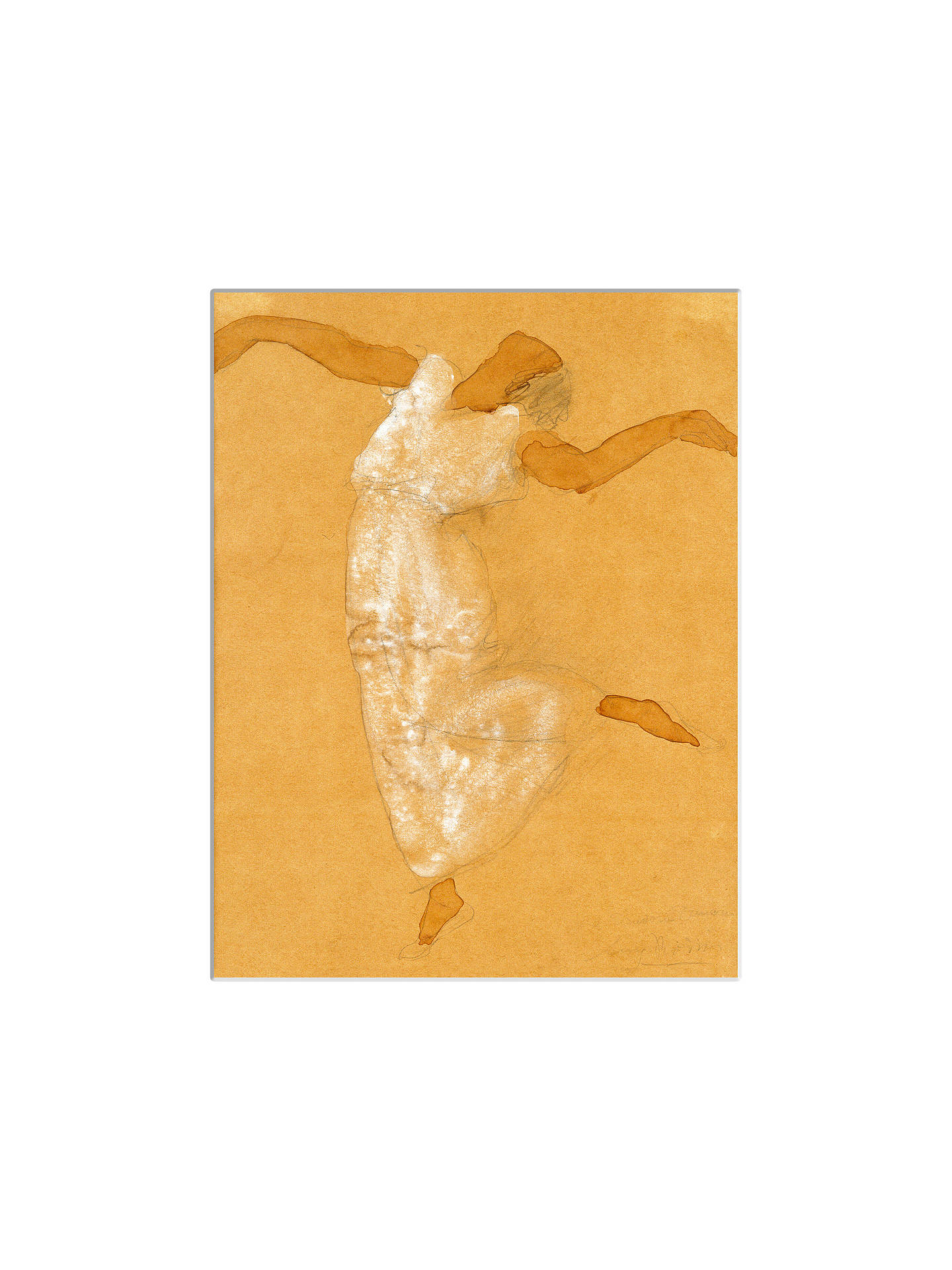 Buy Auguste Rodin - Isadora Duncan Unframed Print with Mount, 40 x 30cm Online at johnlewis.com