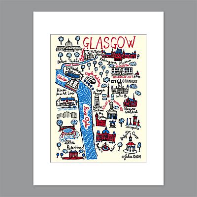 Image of Julia Gash - Glasgow Unframed Print with Mount, 40 x 30cm