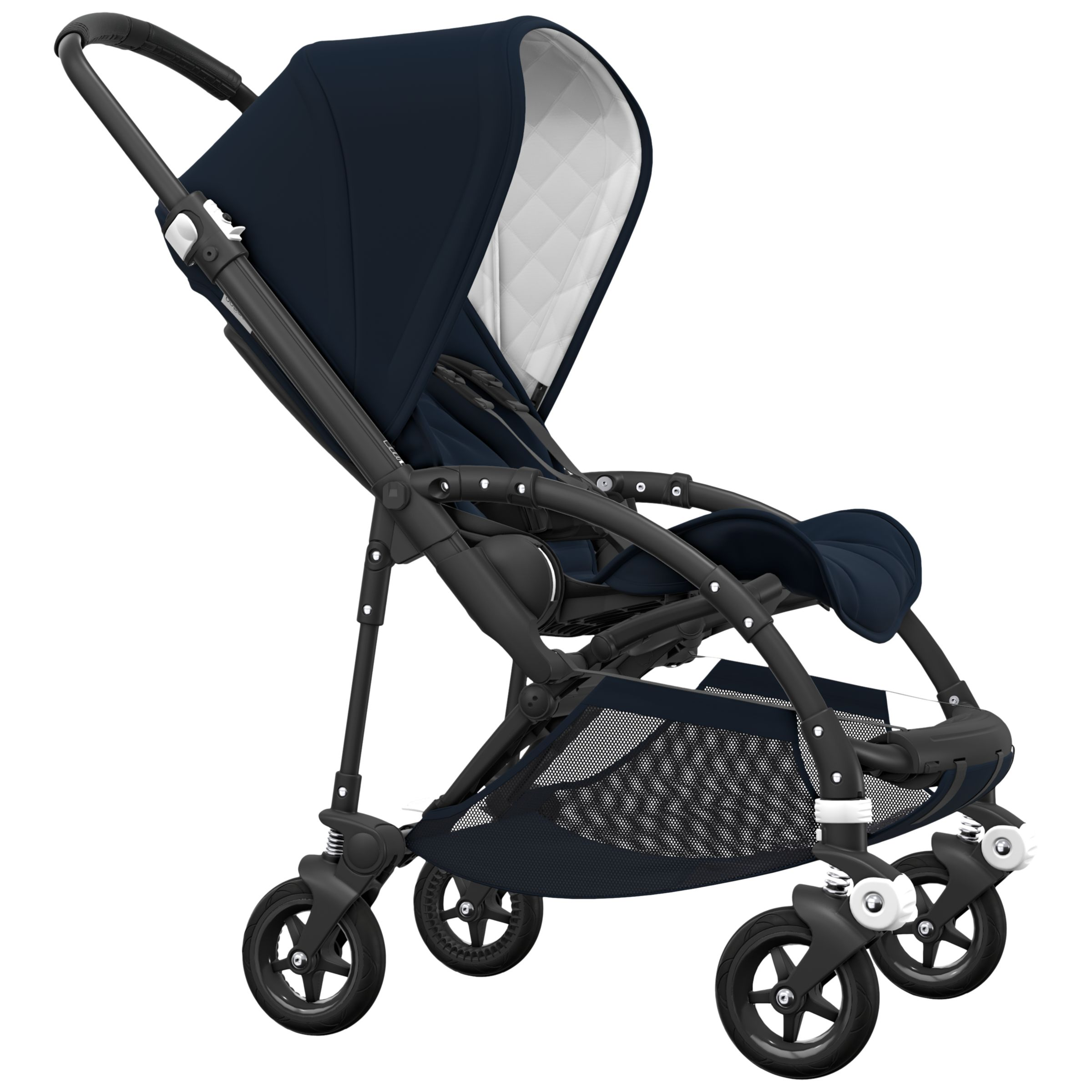 Bugaboo Bugaboo Bee 5 Classic Pushchair, Dark Navy/Black