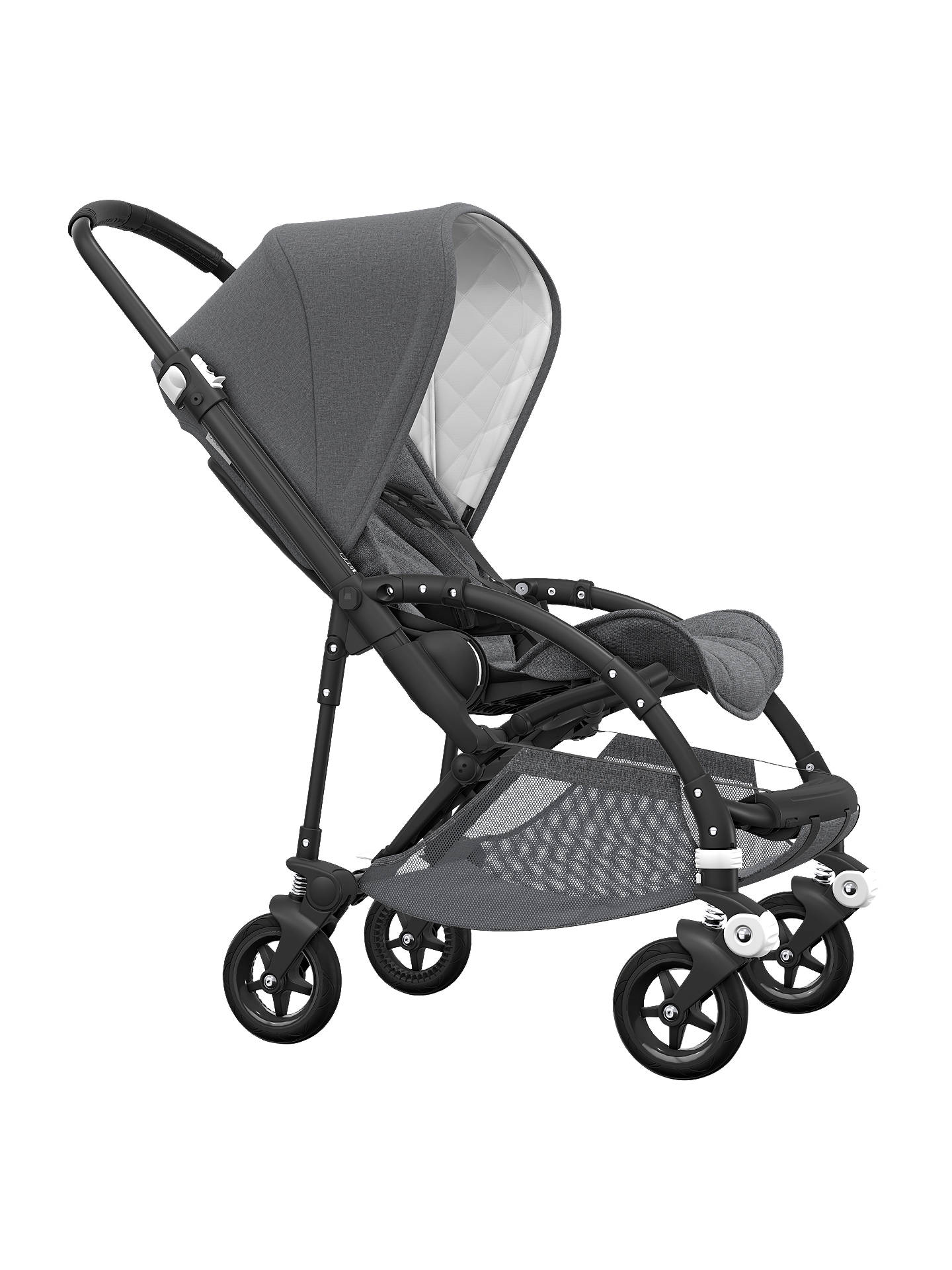 Buy Bugaboo Bee5 Classic Pushchair, Grey Melange Online at johnlewis.com