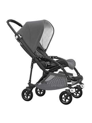 Bugaboo Bee 5 Classic Pushchair, Grey Melange/Black