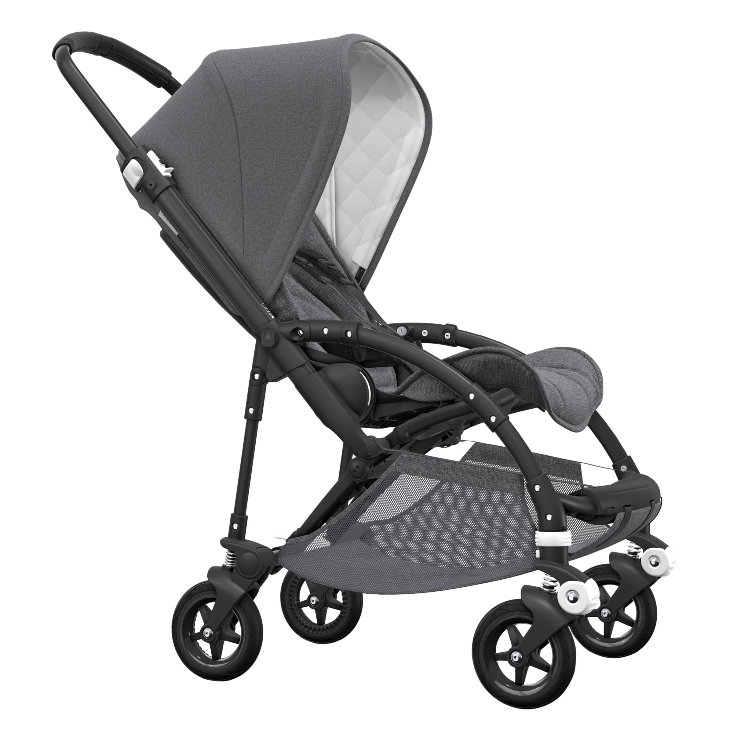 Bugaboo Bugaboo Bee 5 Classic Pushchair, Grey Melange/Black