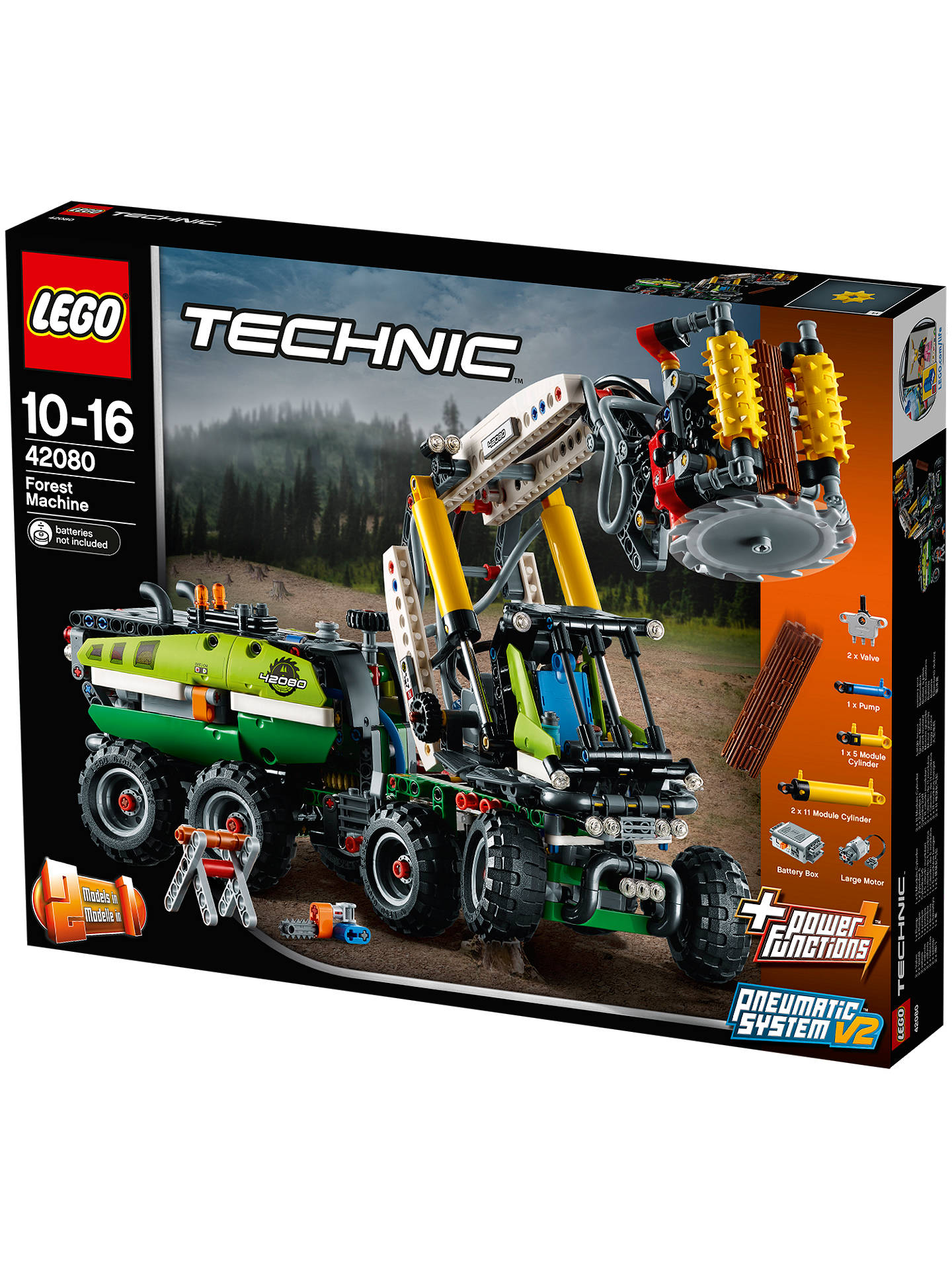 Lego Technic 42080 2 In 1 Forest Machine Online At Johnlewis