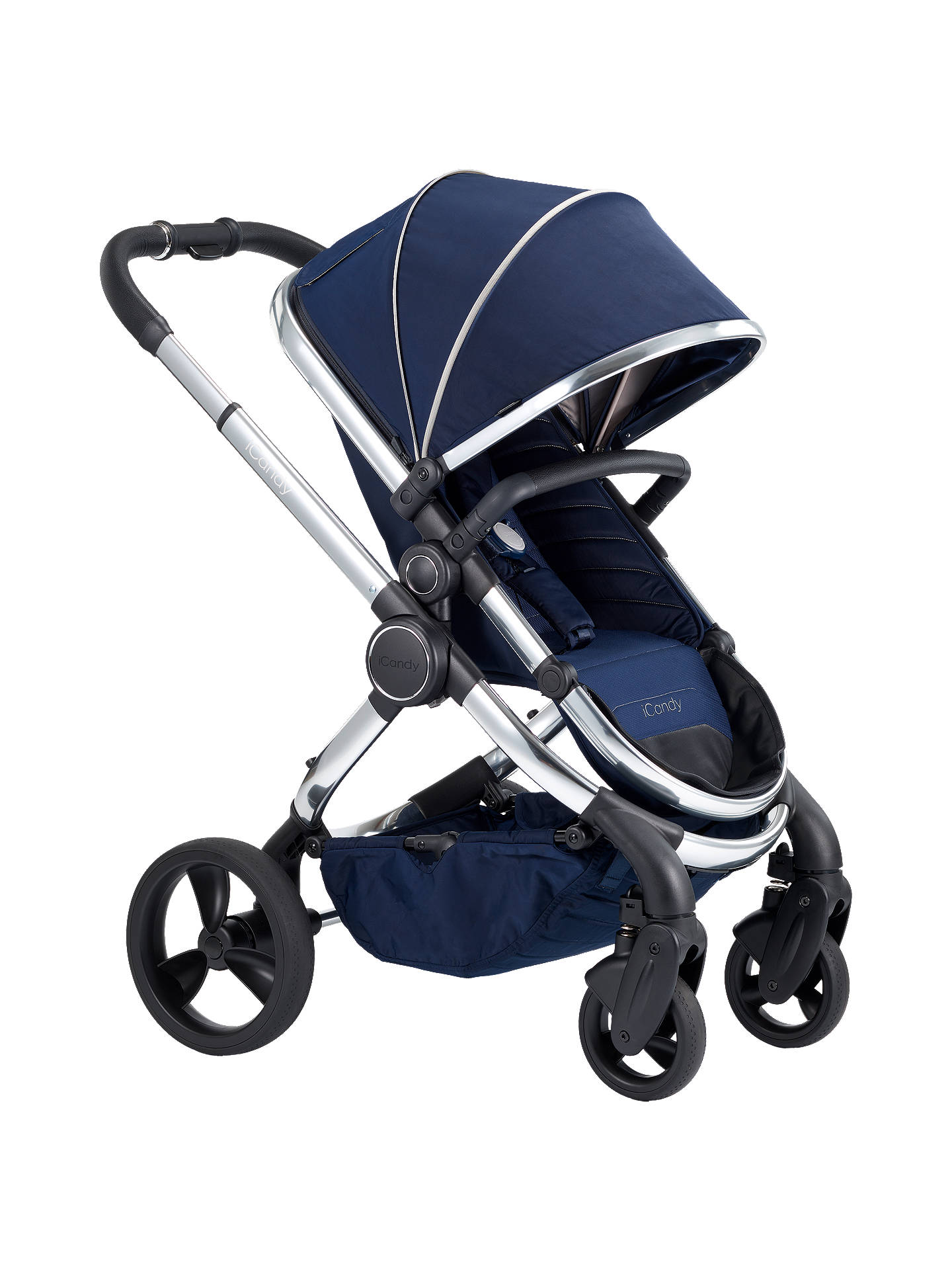 b662fa1b4f1bb Buy iCandy Peach Chrome Pushchair and Carrycot, Indigo Online at  johnlewis.com ...