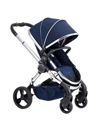 iCandy Peach Chrome Pushchair and Carrycot, Indigo