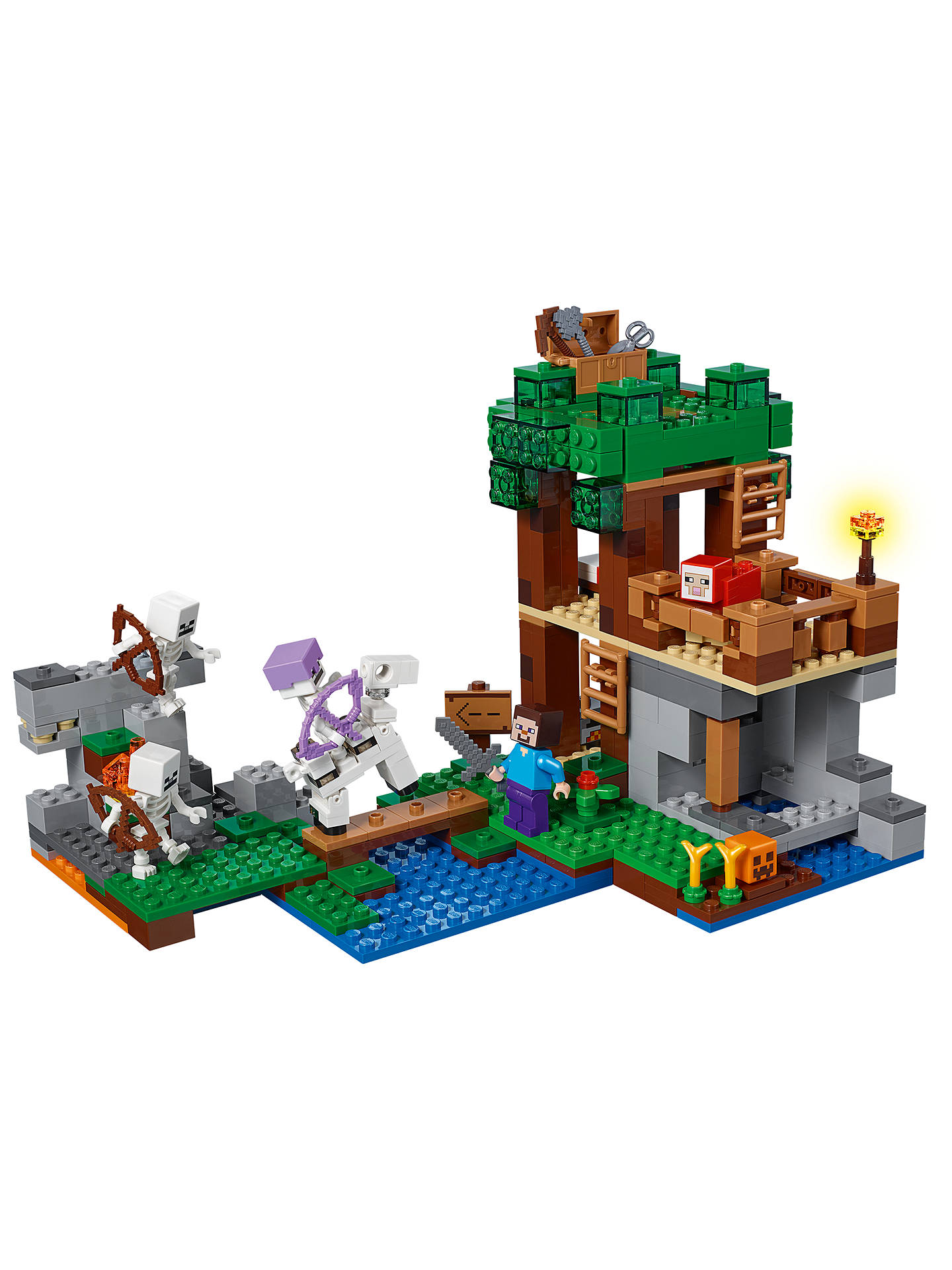 LEGO Minecraft 21146 The Skeleton Attack at John Lewis & Partners